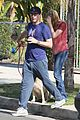 jon hamm stays comfy in sweatpants for morning dog walk 11