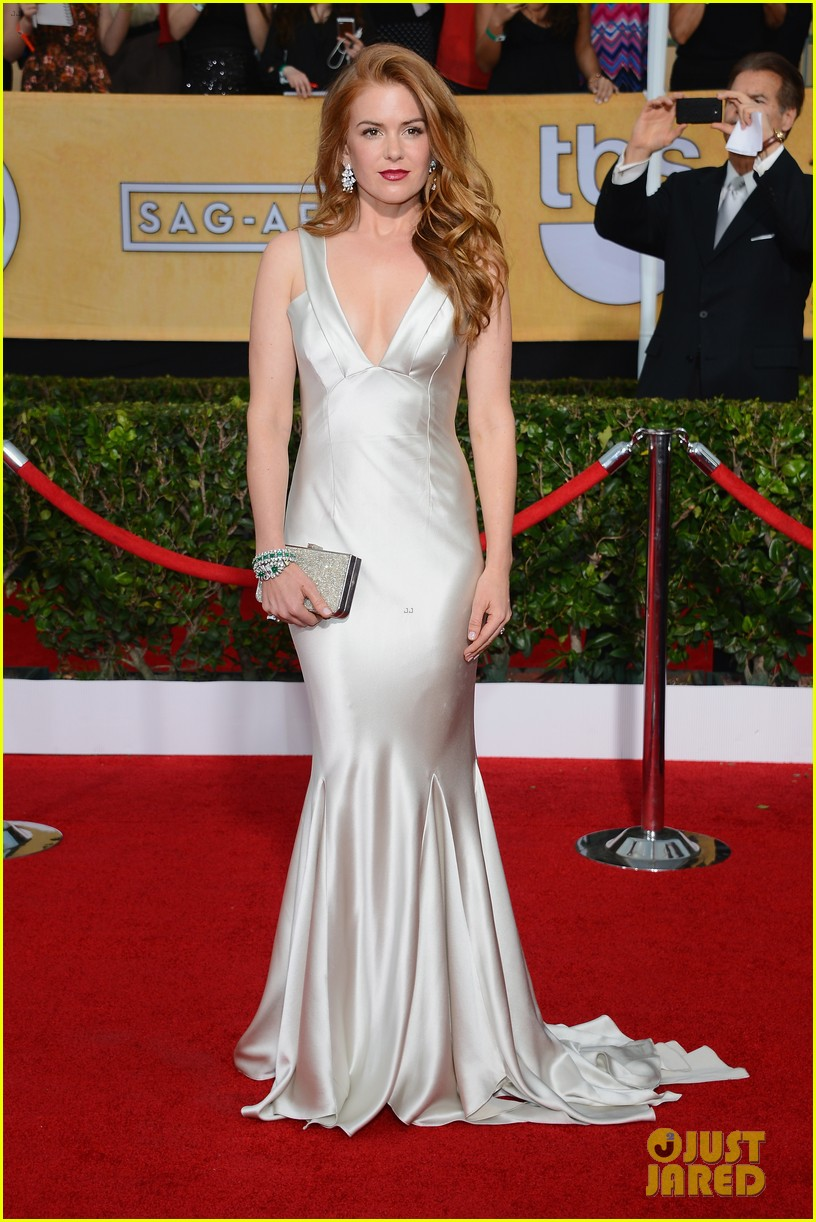 isla fisher sag awards 2014 red carpet 01
