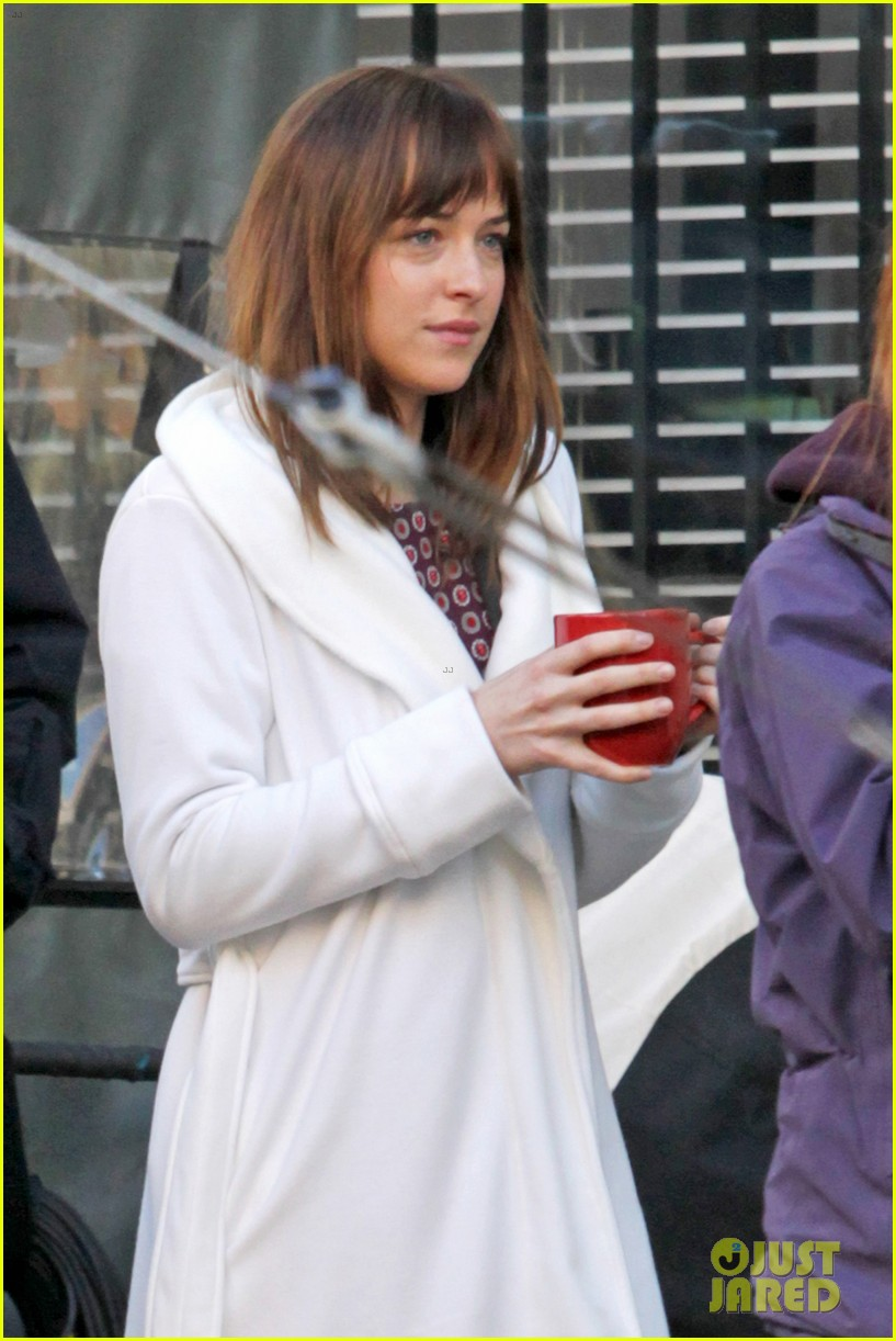 dakota johnson shoots fifty shades scenes with max martini 203033164
