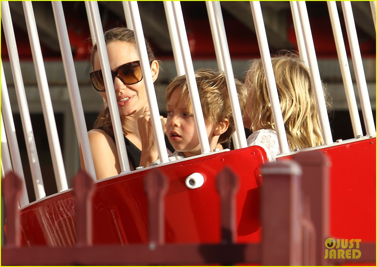angelina jolie luna park fun with the kids 023024375
