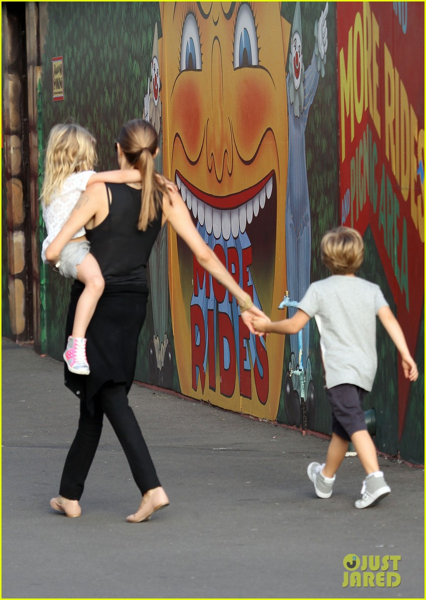 angelina jolie luna park fun with the kids 143024387