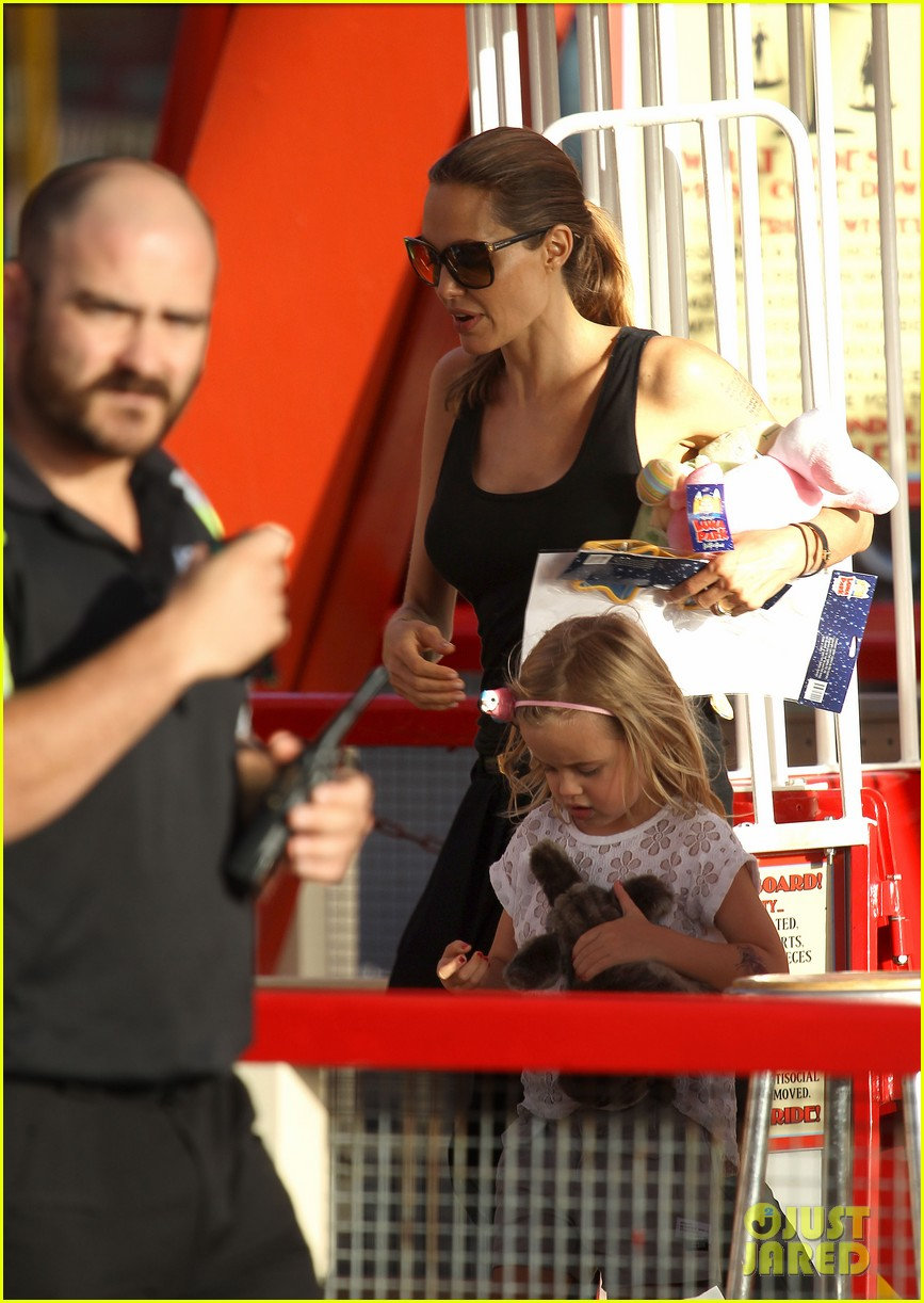 angelina jolie luna park fun with the kids 423024415