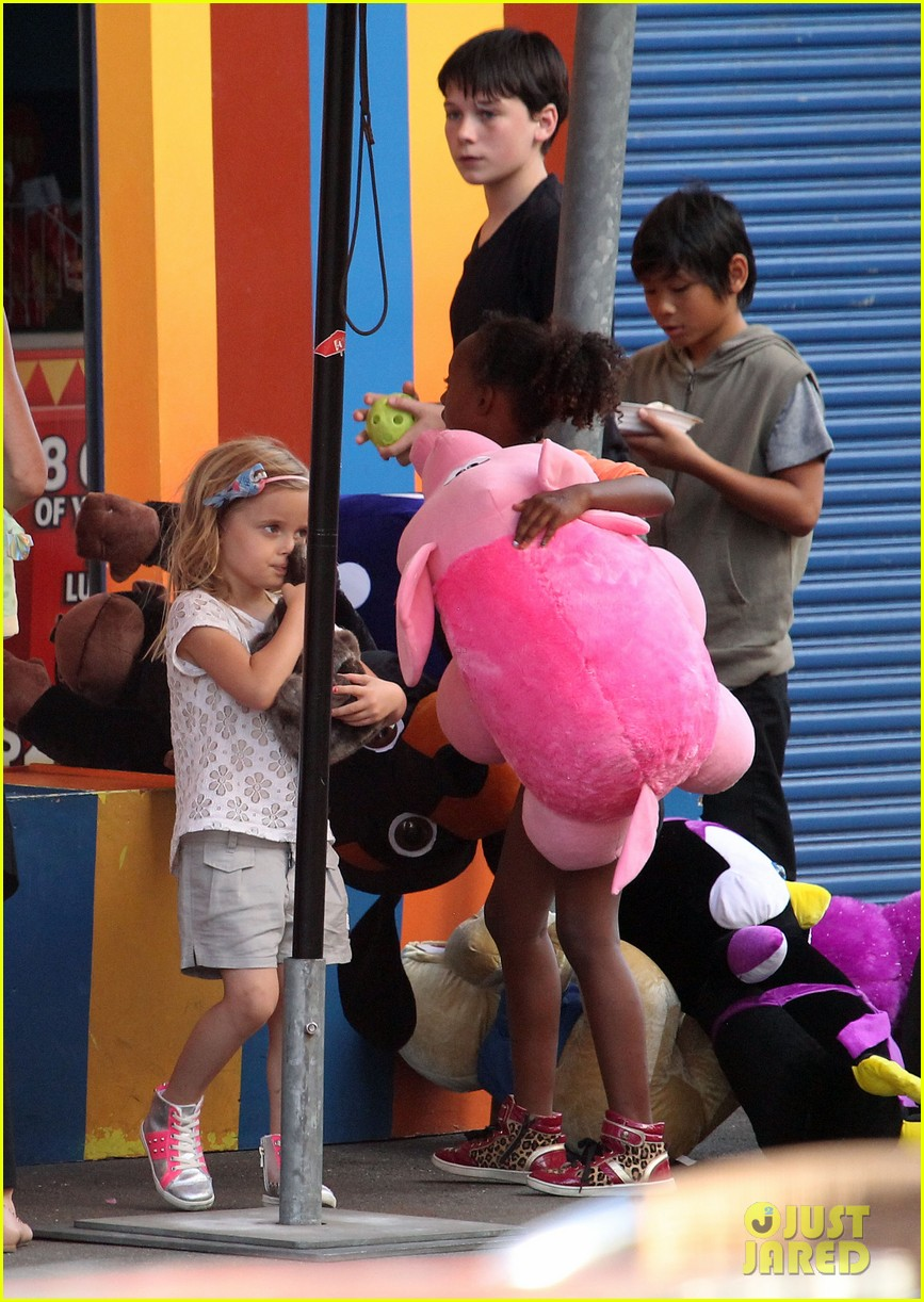 angelina jolie luna park fun with the kids 463024419