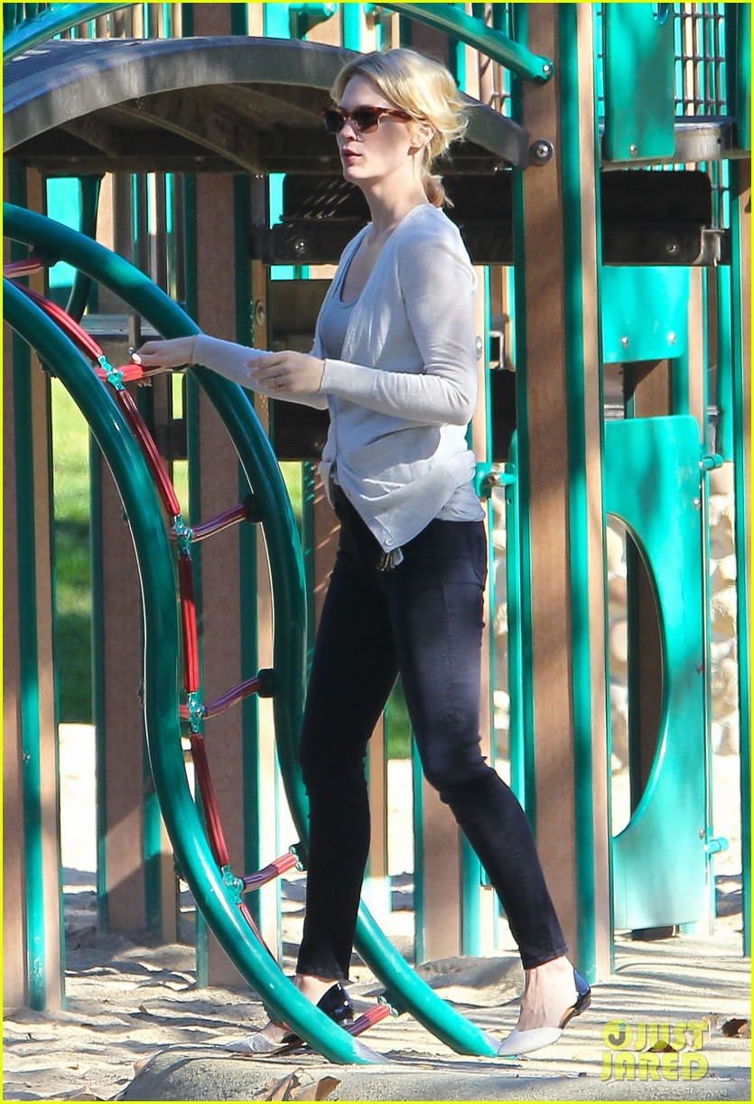 january jones joins instagram rides swings with xander 093039067