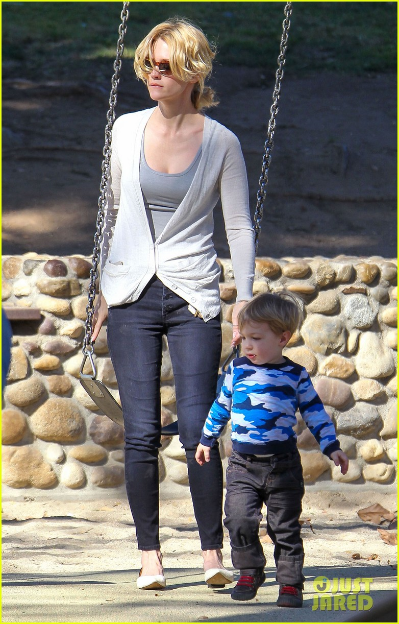 january jones joins instagram rides swings with xander 15