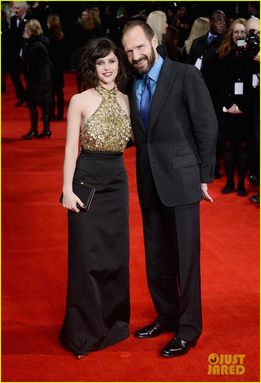 felicity jones ralph fiennes invisible woman uk premiere 063042157