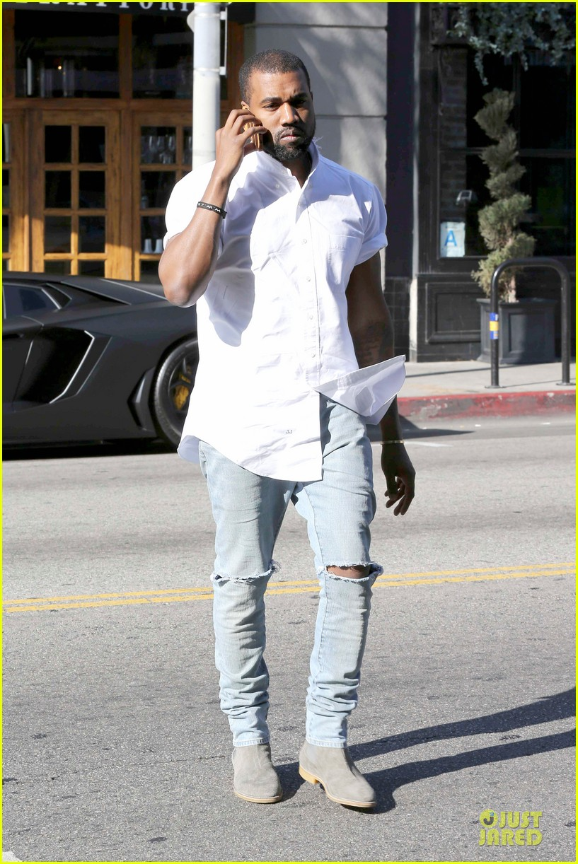 kim kardashian kanye west bright saturday outings 123027991