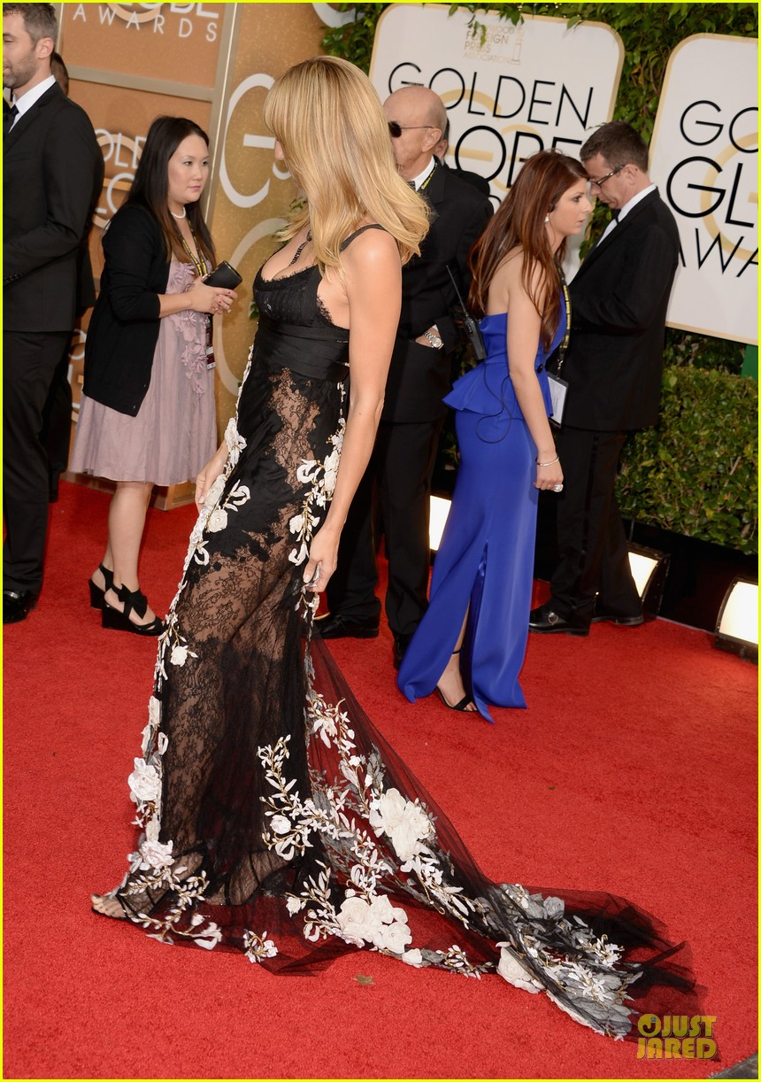 heidi klum golden globes 2014 red carpet 09