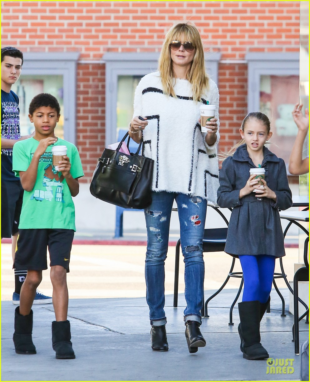 heidi klum grabs coffee before jag gym stop with the kids 023036039