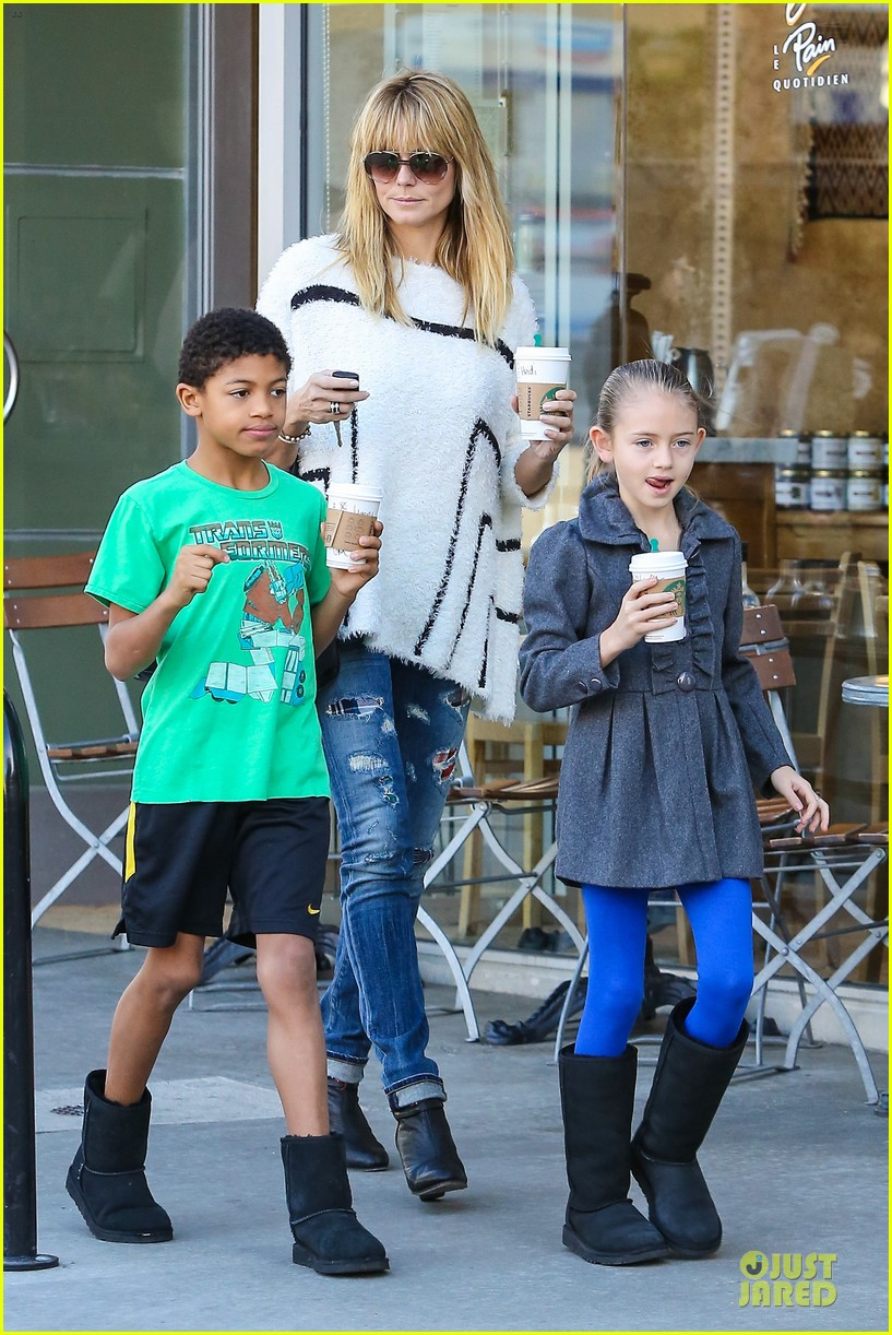heidi klum grabs coffee before jag gym stop with the kids 253036062