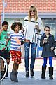 heidi klum grabs coffee before jag gym stop with the kids 17