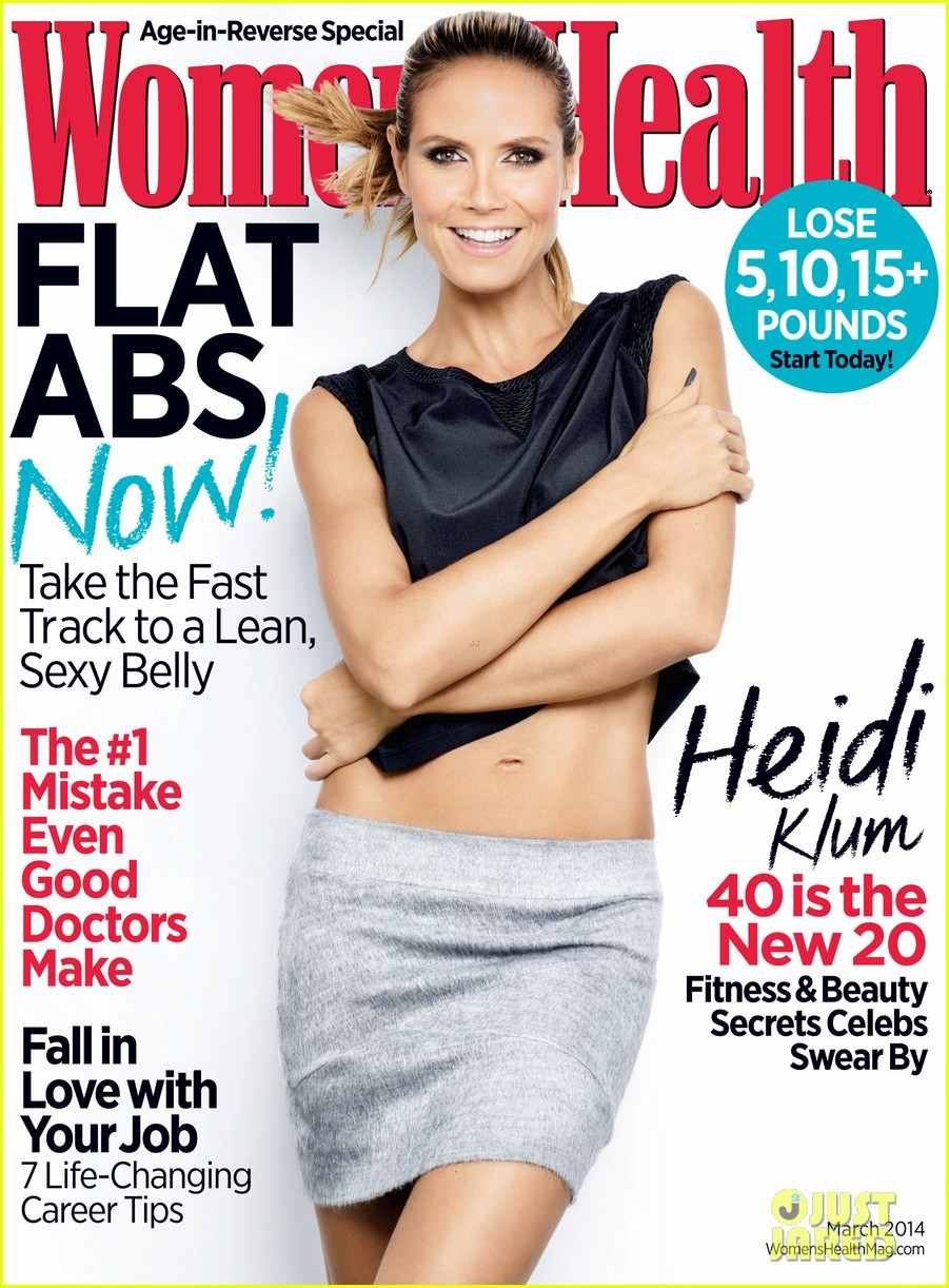 heidi klum covers womens health march 2014 01