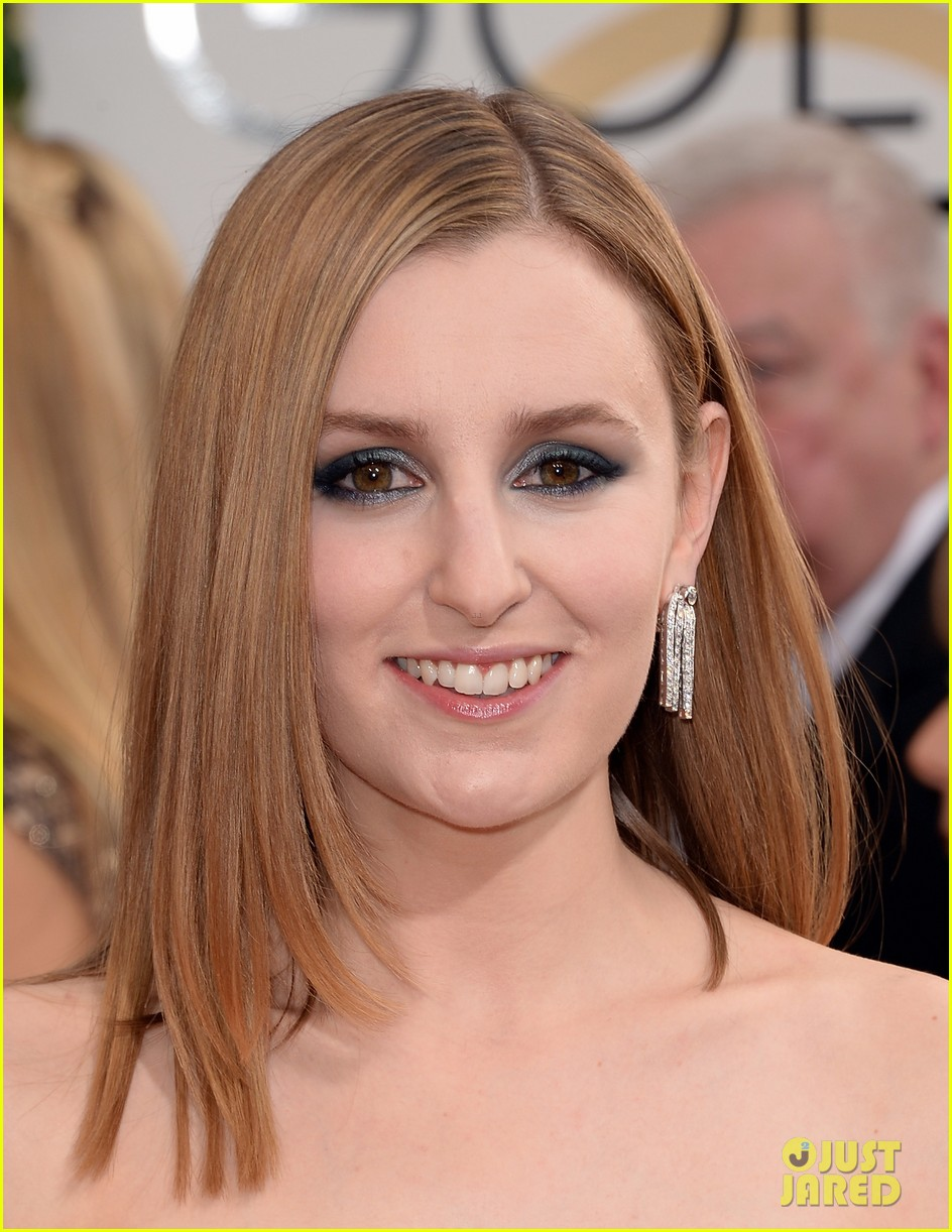 laura carmichael golden globes 2014 red carpet 013029591