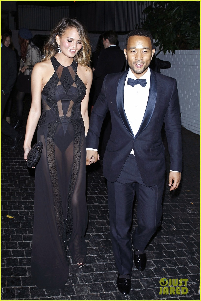 john legend chrissy teigen grammys 2014 after party 073041930
