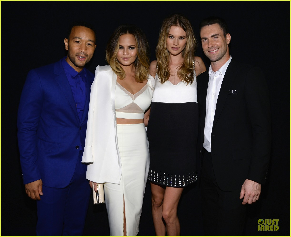 adam levine behati prinsloo backstage at beatles tribute 17