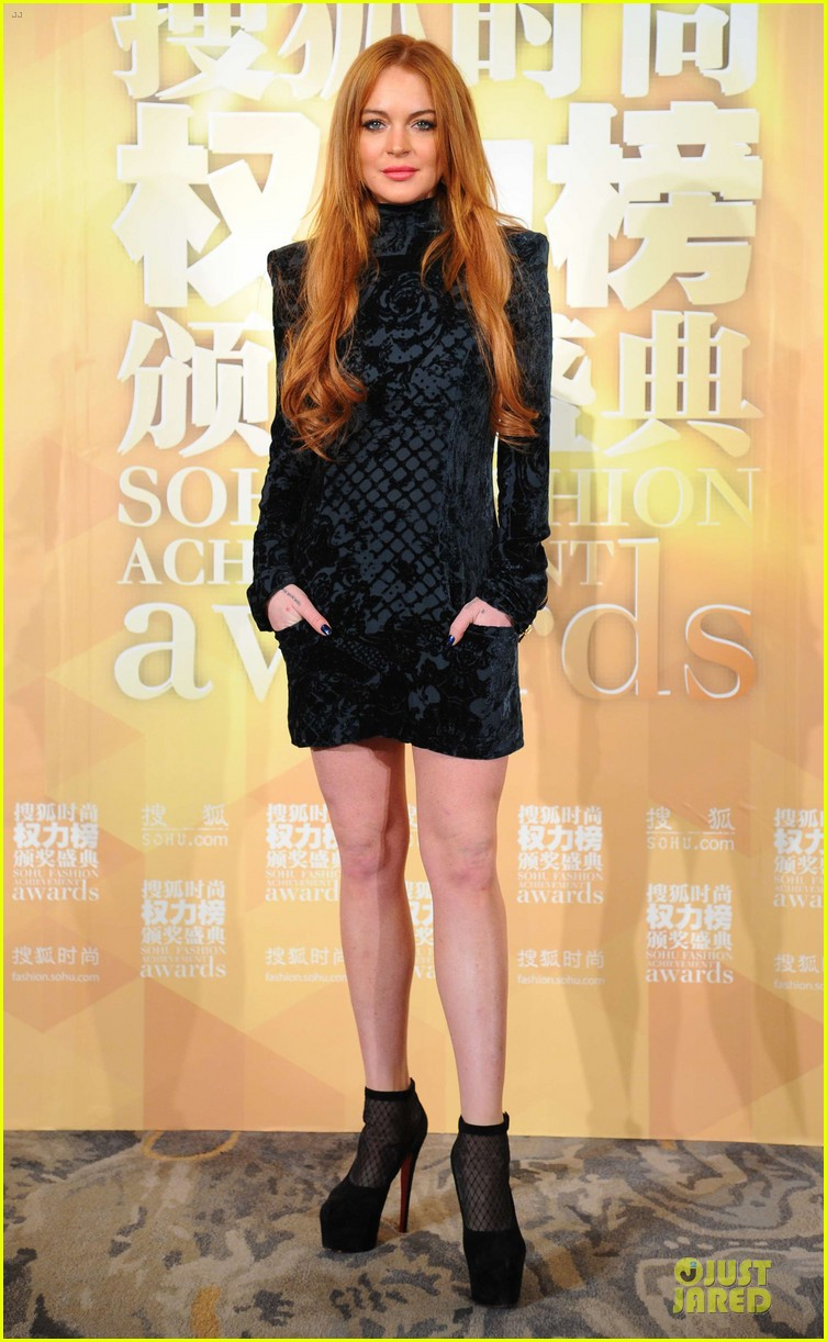 lindsay lohan sohu fashion achievement awards ceremony 01