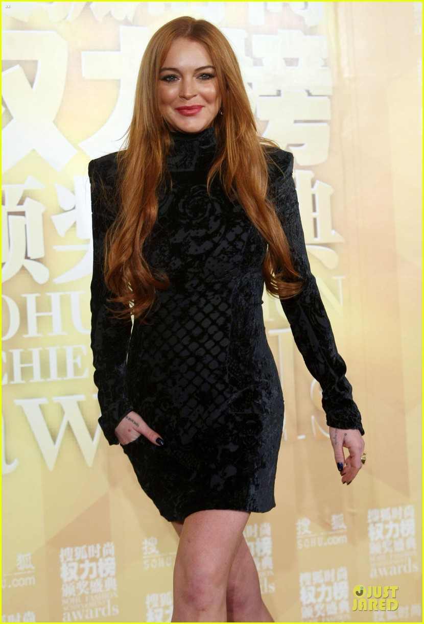 lindsay lohan sohu fashion achievement awards ceremony 12