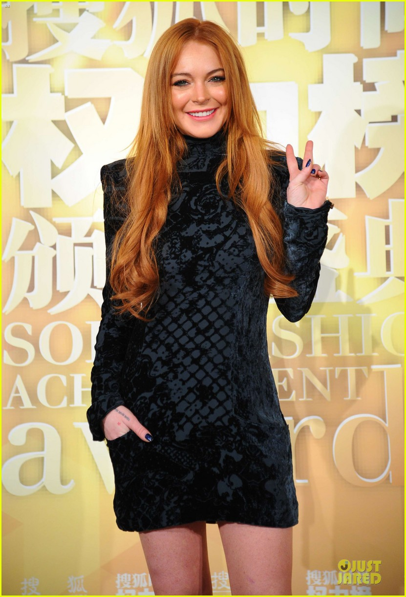 lindsay lohan sohu fashion achievement awards ceremony 15