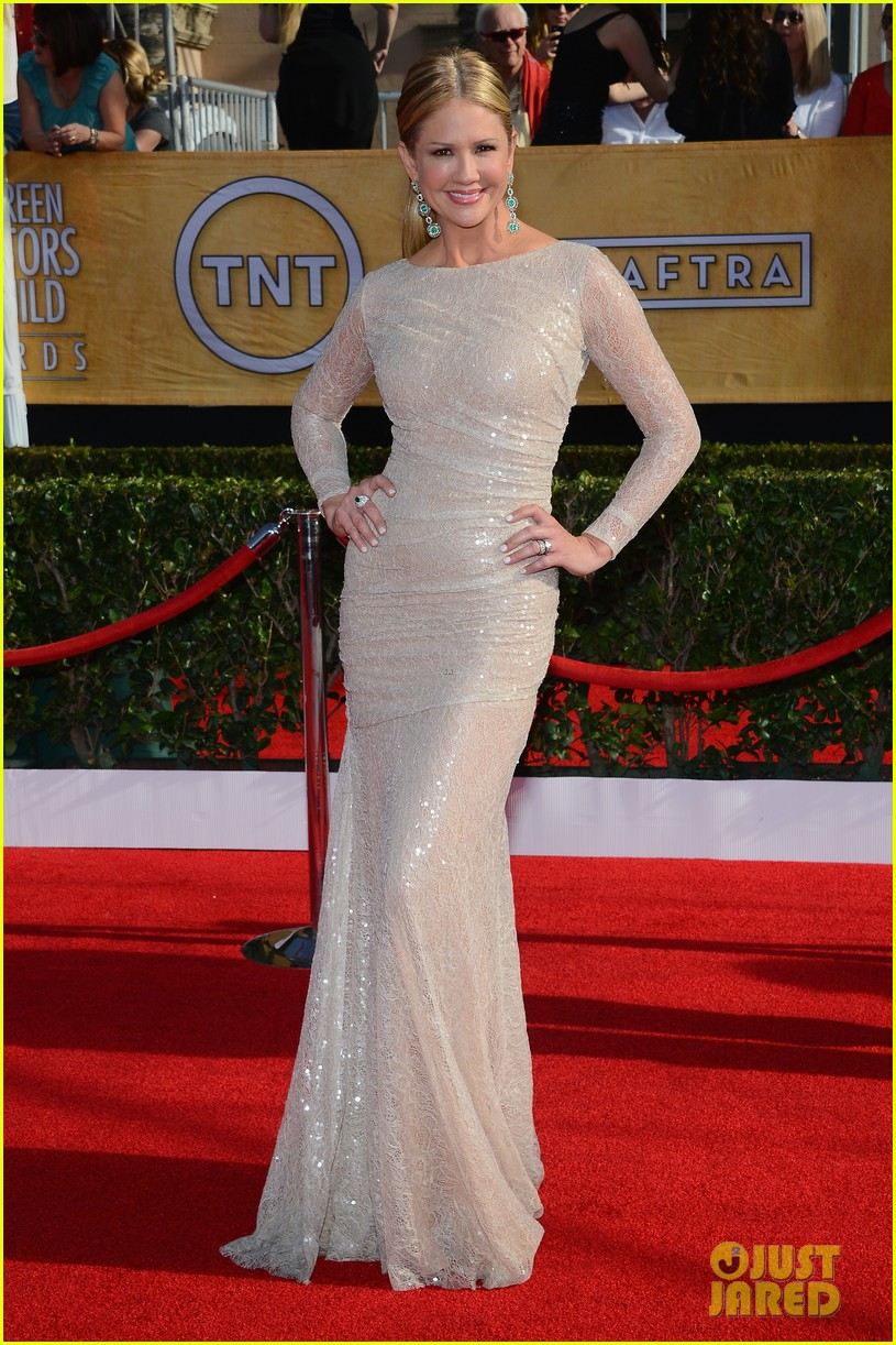 mario lopez nancy odell sag awards 2014 red carpet 013034544