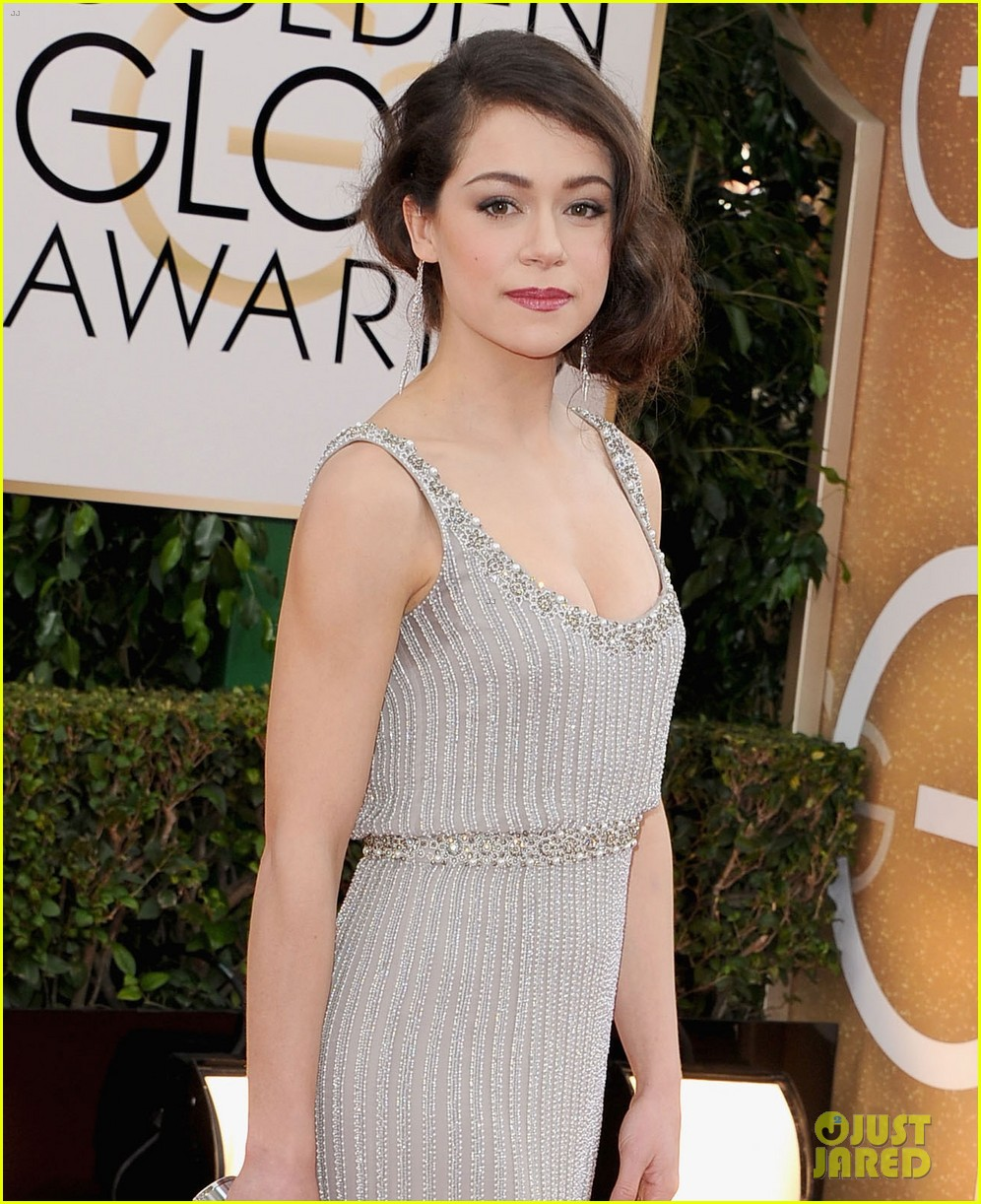 tatiana maslany golden globes 2014 red carpet 023029758