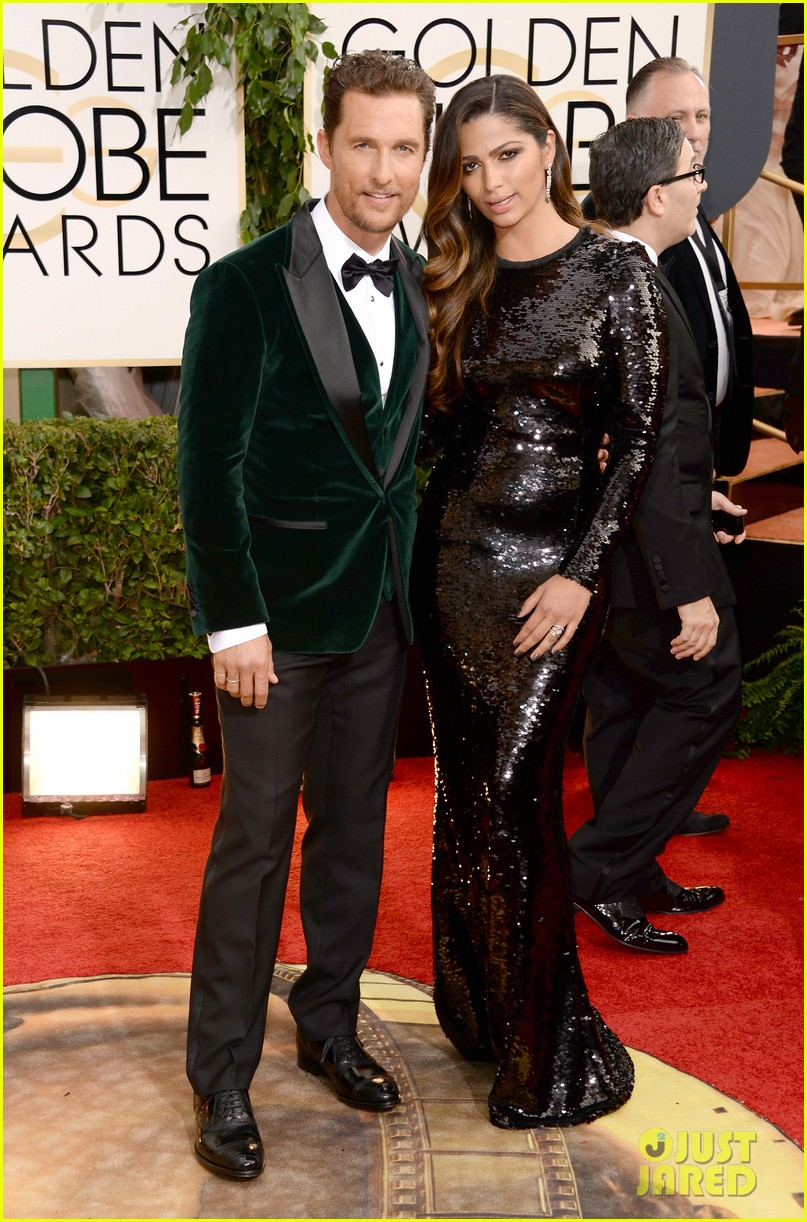 matthew mcconaughey golden globes 2014 with camila alves 093029250