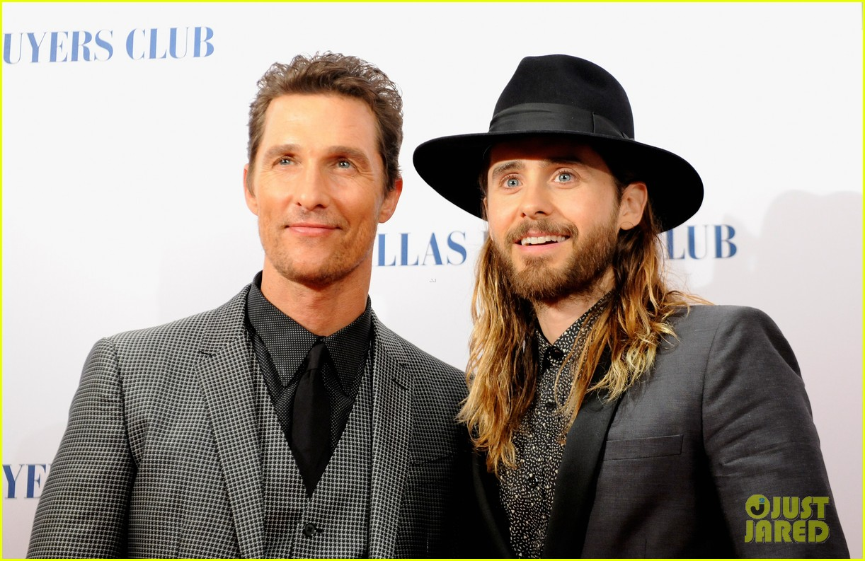 matthew mcconaughey jared leto reunite for dallas buyers club uk premiere 01