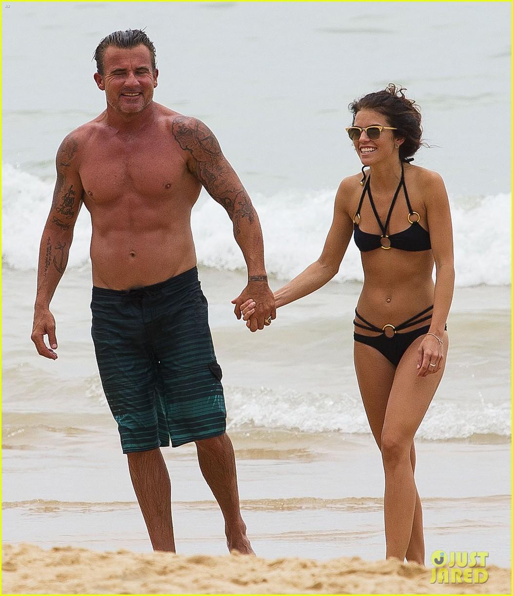 annalynne mccord bikini beach babe with shirtless dominic purcell 04
