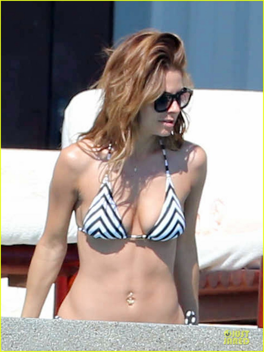 maria menounos black white bikini in cabo san lucas 093022553