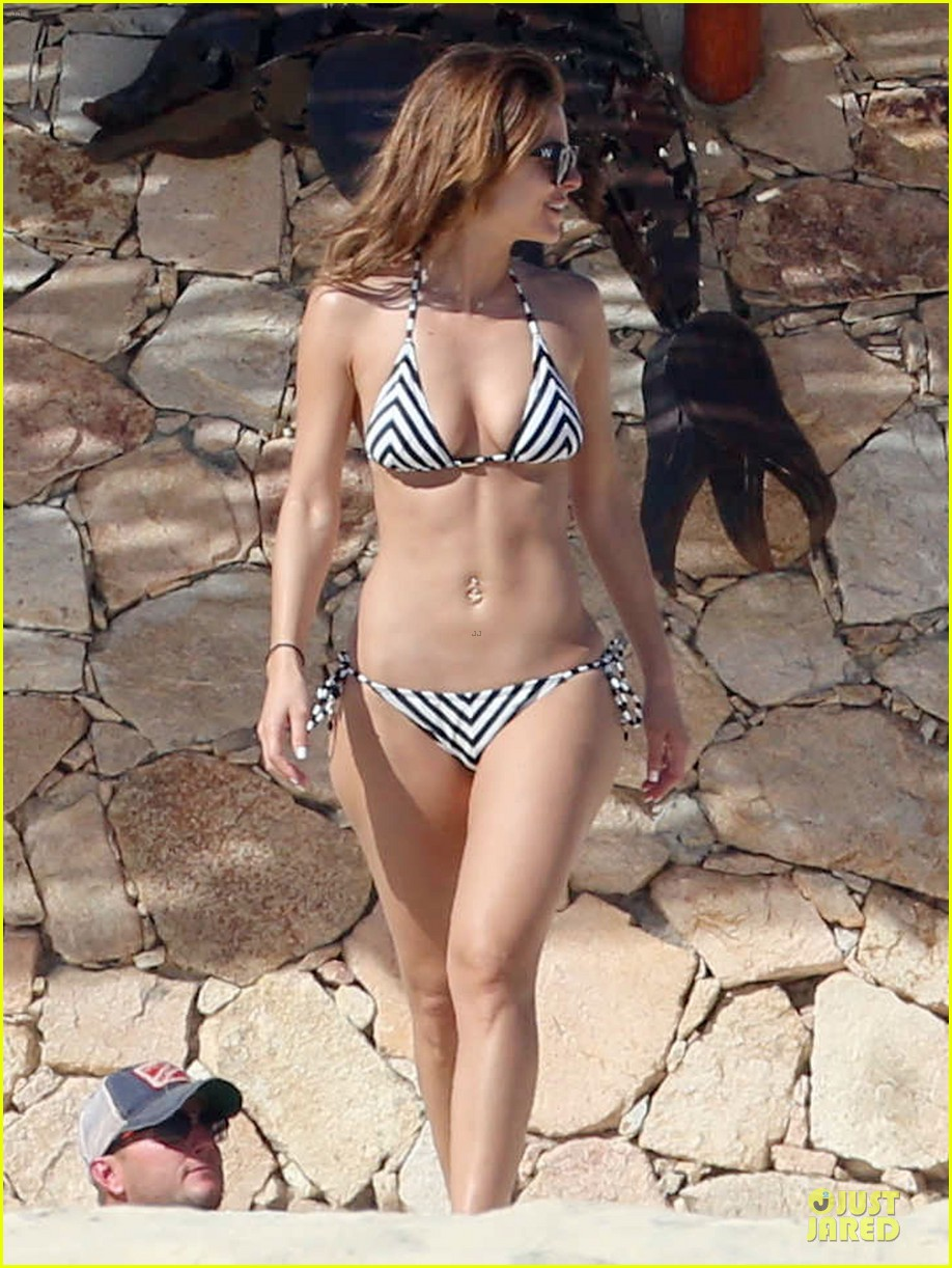 maria menounos black white bikini in cabo san lucas 15