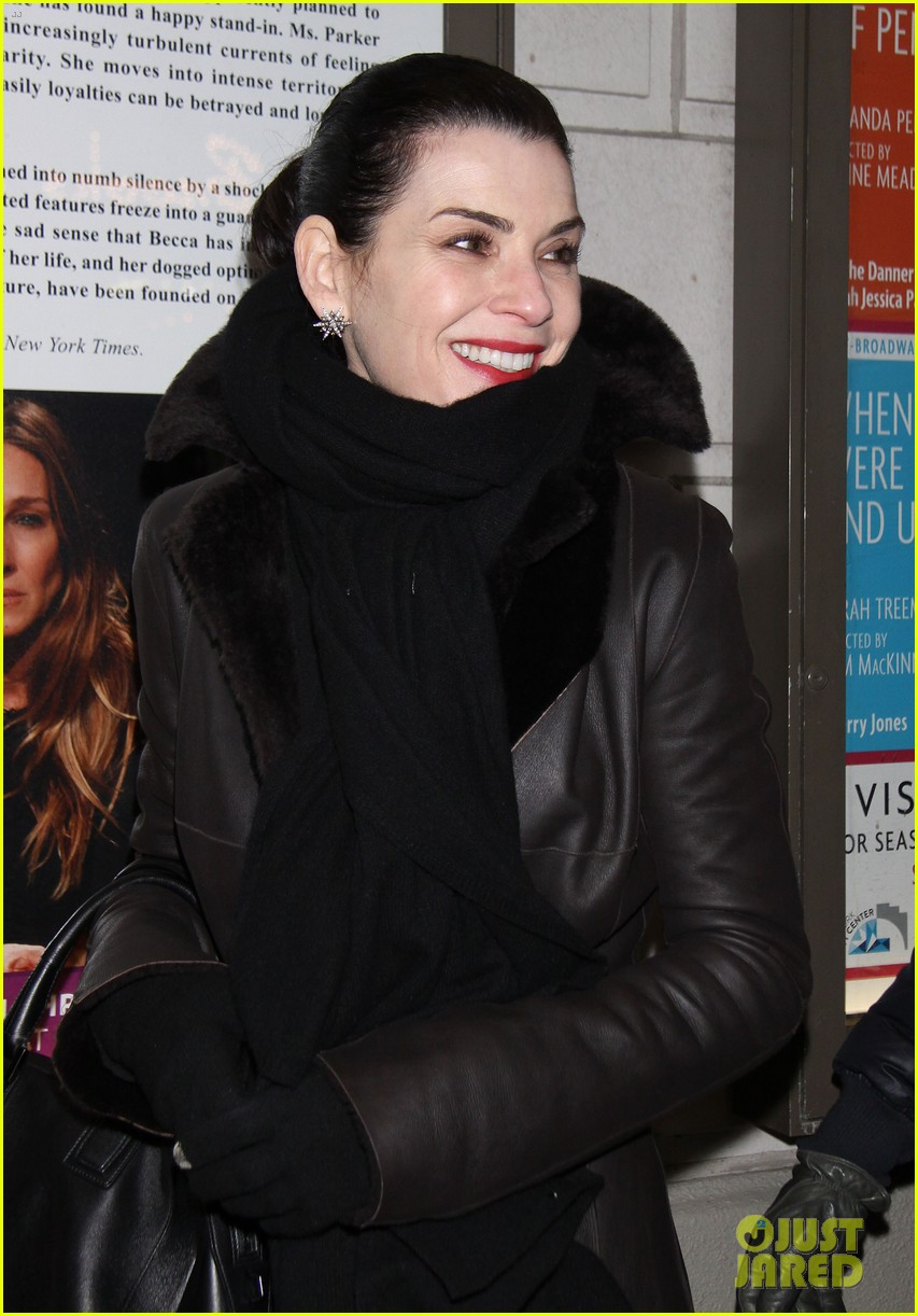 julianna margulies supports debra messings opening night 14