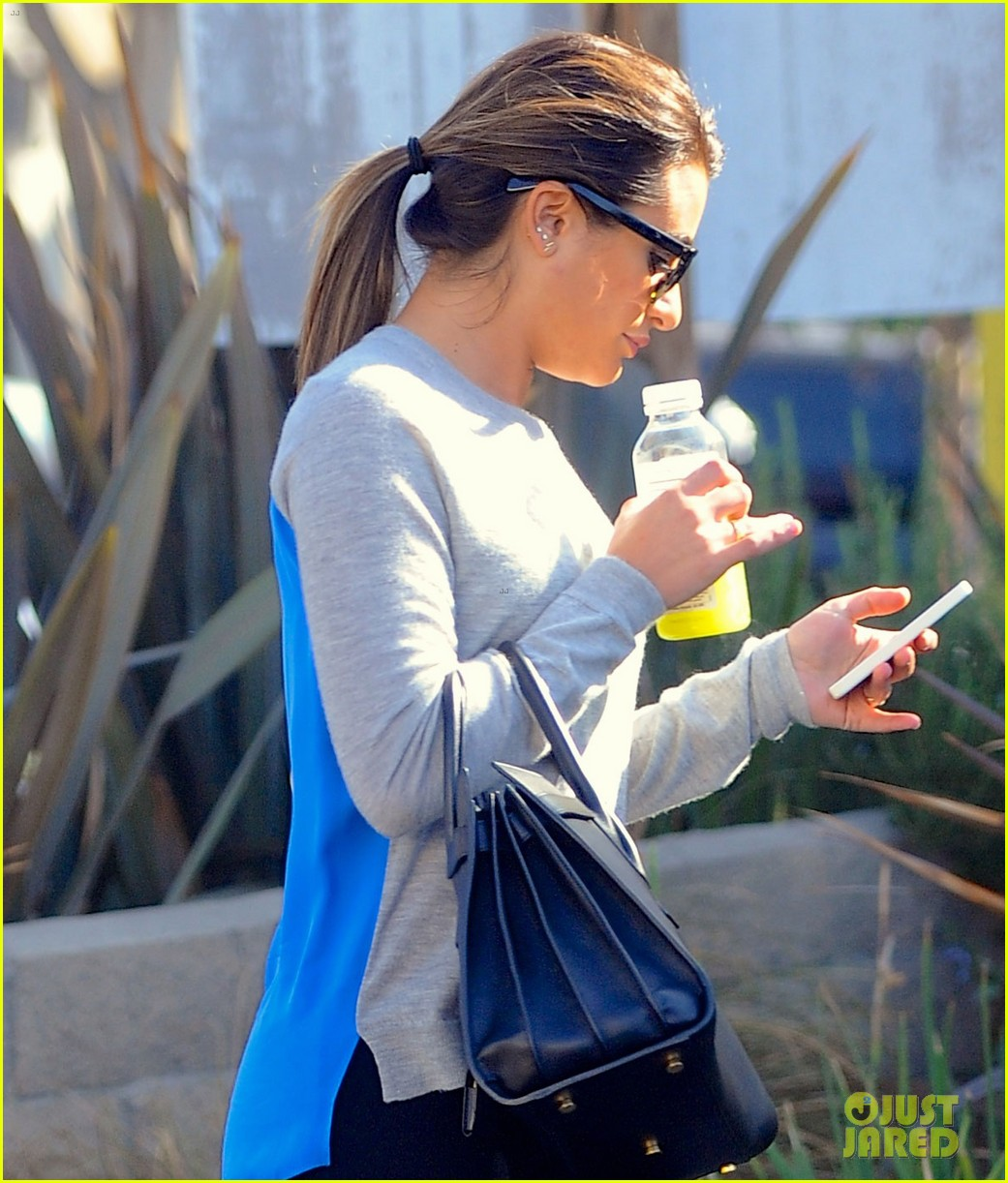 lea michele picks up juice before fun morning on glee 023043754