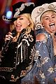 miley cyrus madonna tongues out for mtv unplugged 02