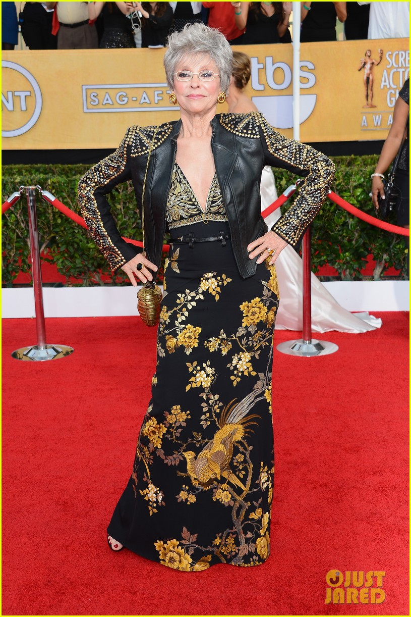 morgan freeman rita moreno sag awards 2014 red carpet 033034812