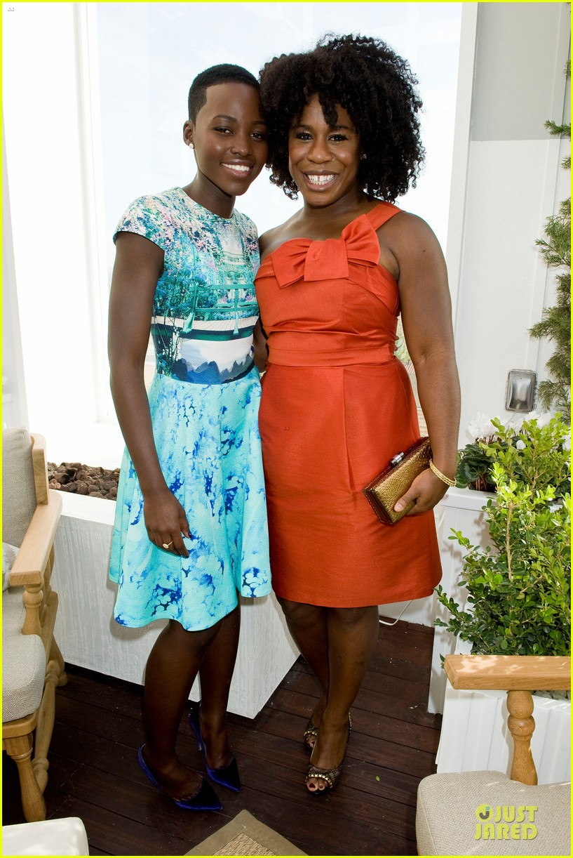 lupita nyongo dujour cover party with michelle dockery 143028200