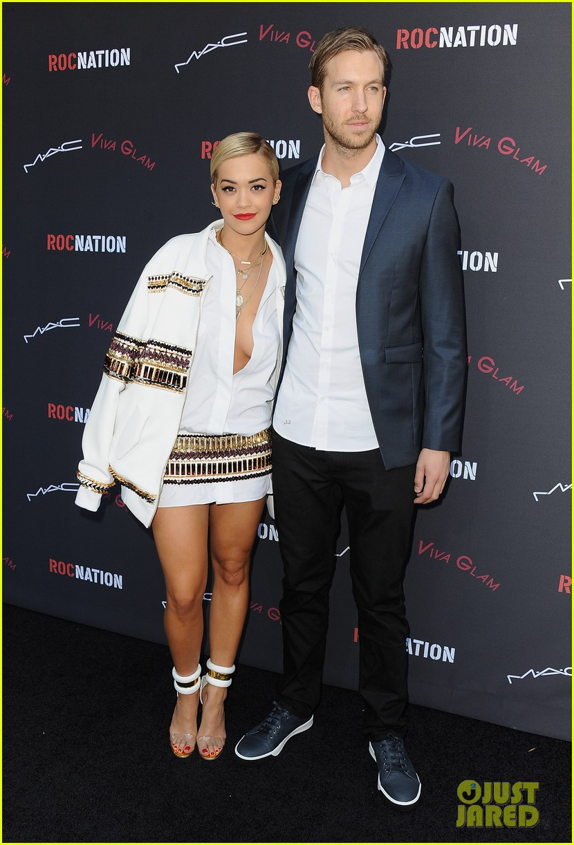 rita ora calvin harris red carpet couple debut 22