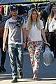 aaron paul wife lauren kiss cuddle at the flea market 03