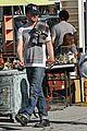 aaron paul wife lauren kiss cuddle at the flea market 14