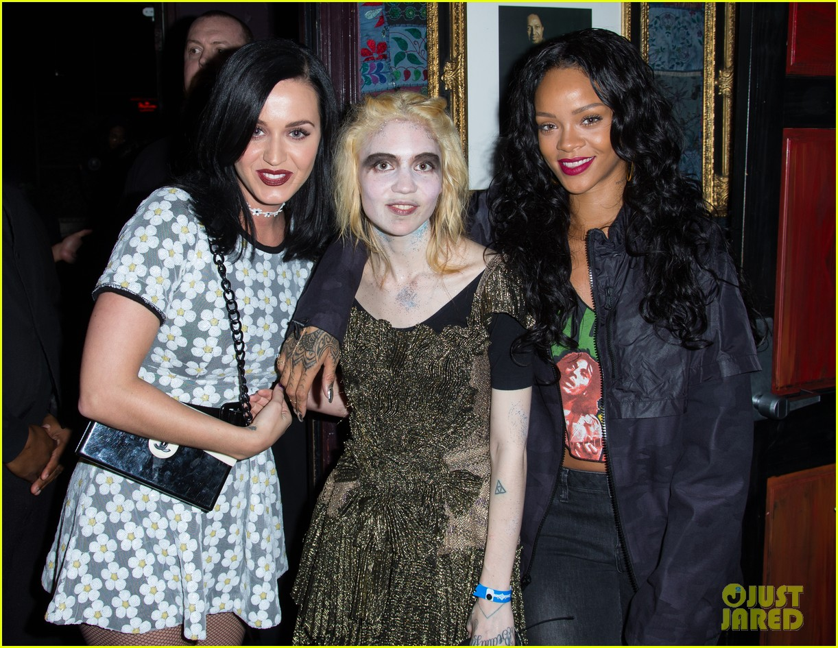 katy perry rihanna support grimes at pre grammys event 12