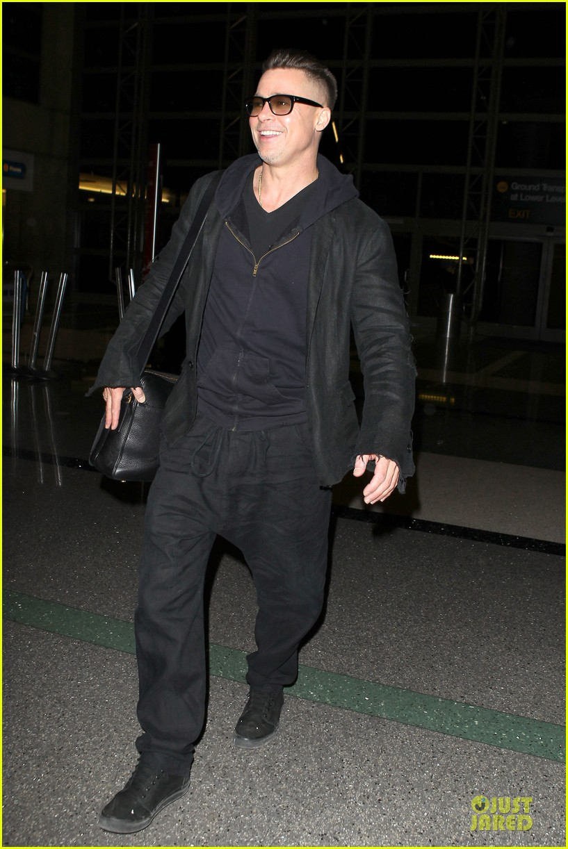 brad pitt lax departure after producers guild awards 25