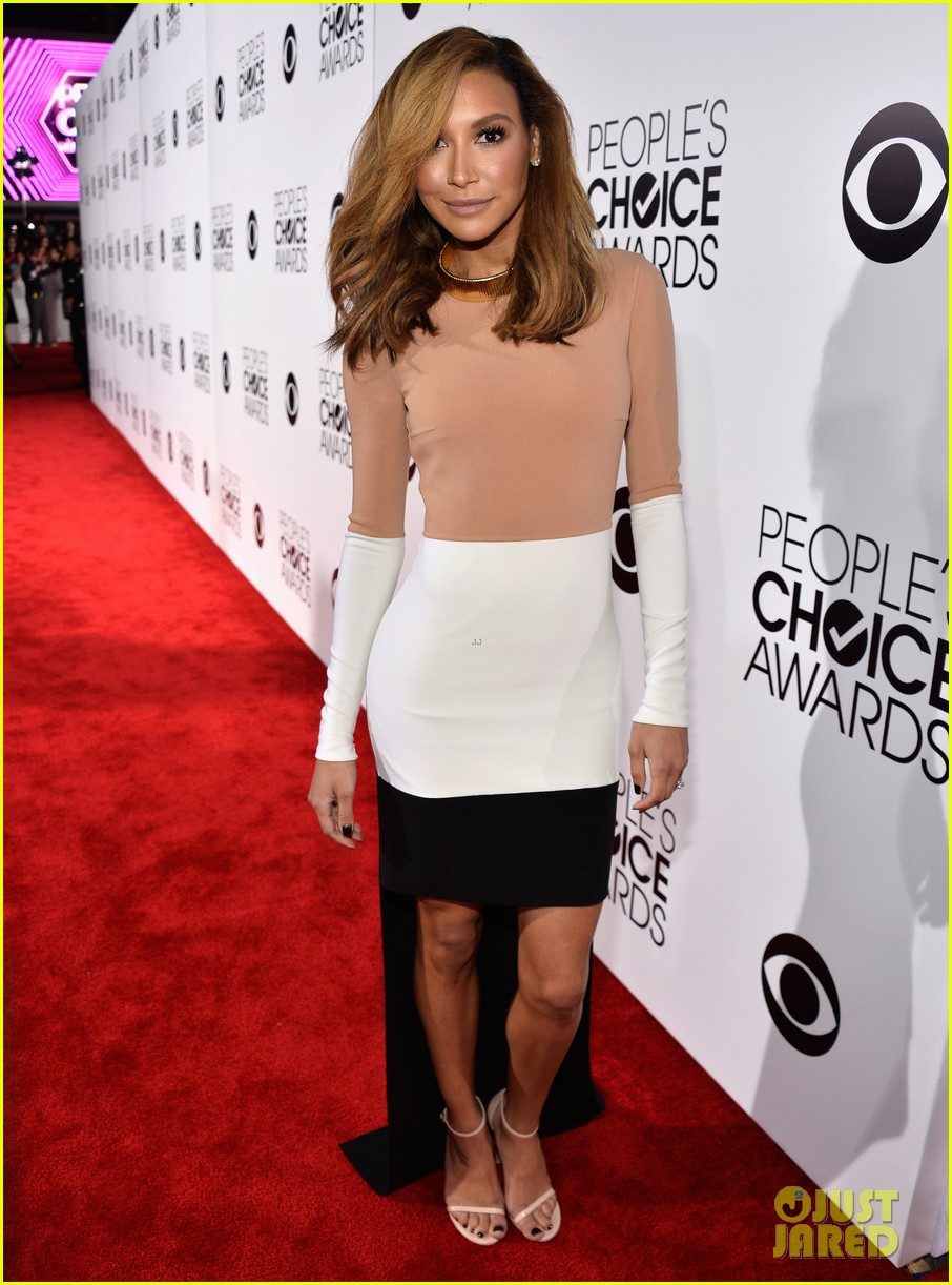 naya rivera goes blonde at peoples choice awards 2014 033025586