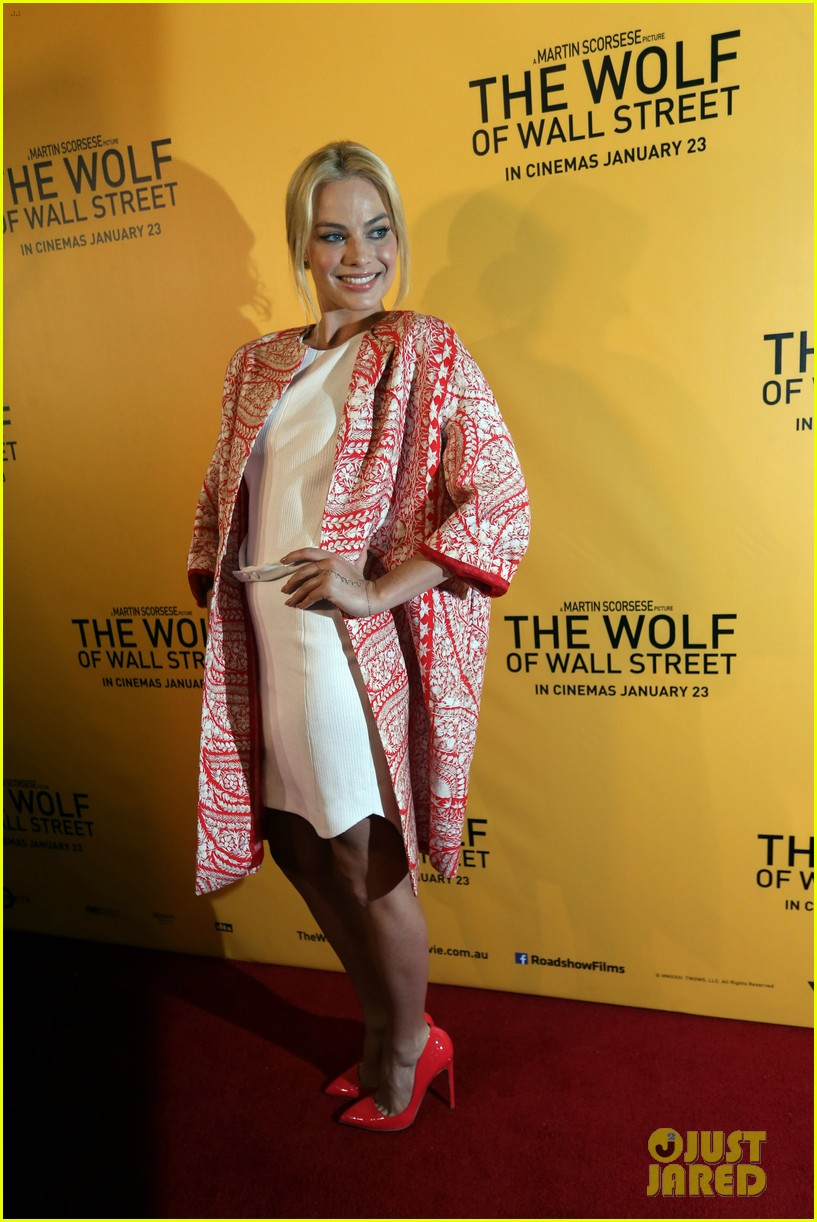 margot robbie wolf of wall street brisbane premiere 083036731