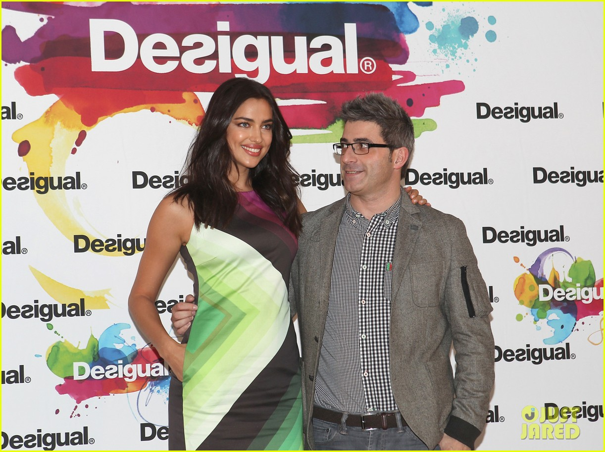 irina shayk presents new desigual campaign in spain 10