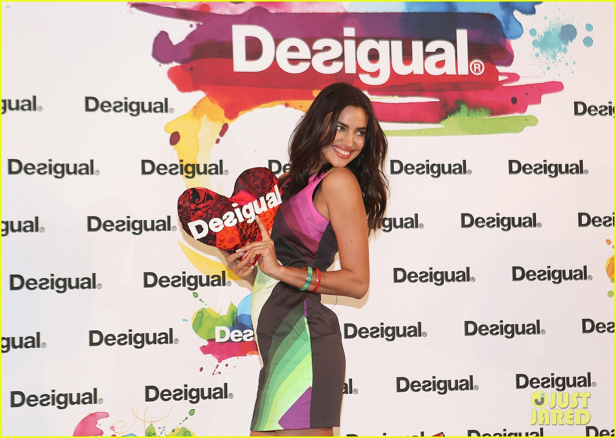 irina shayk presents new desigual campaign in spain 13