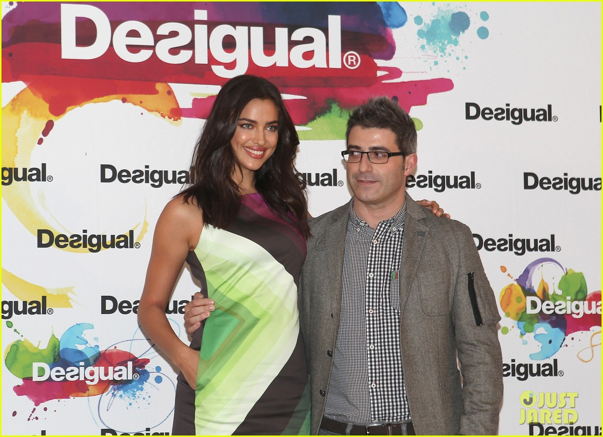 irina shayk presents new desigual campaign in spain 143042240