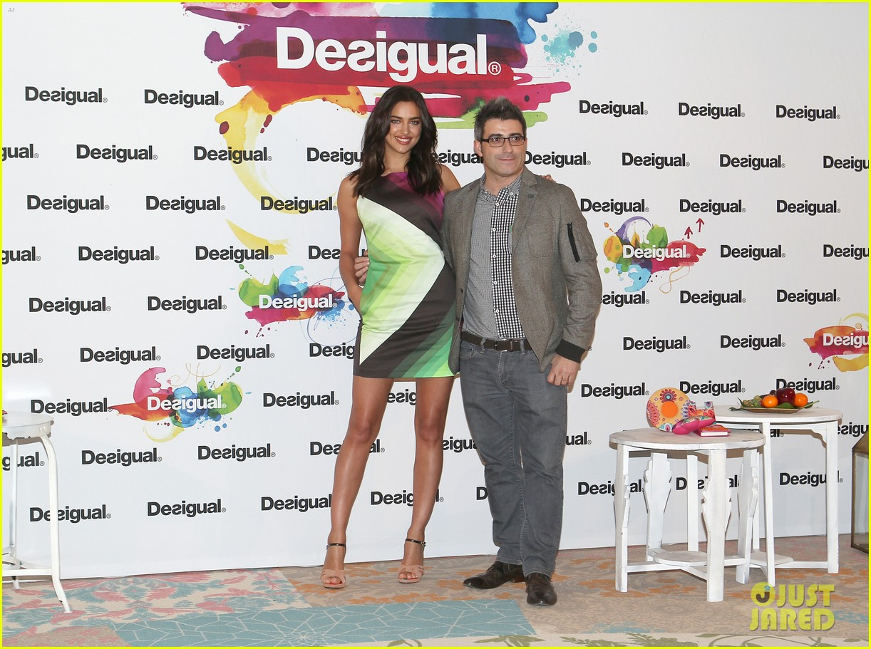 irina shayk presents new desigual campaign in spain 193042245