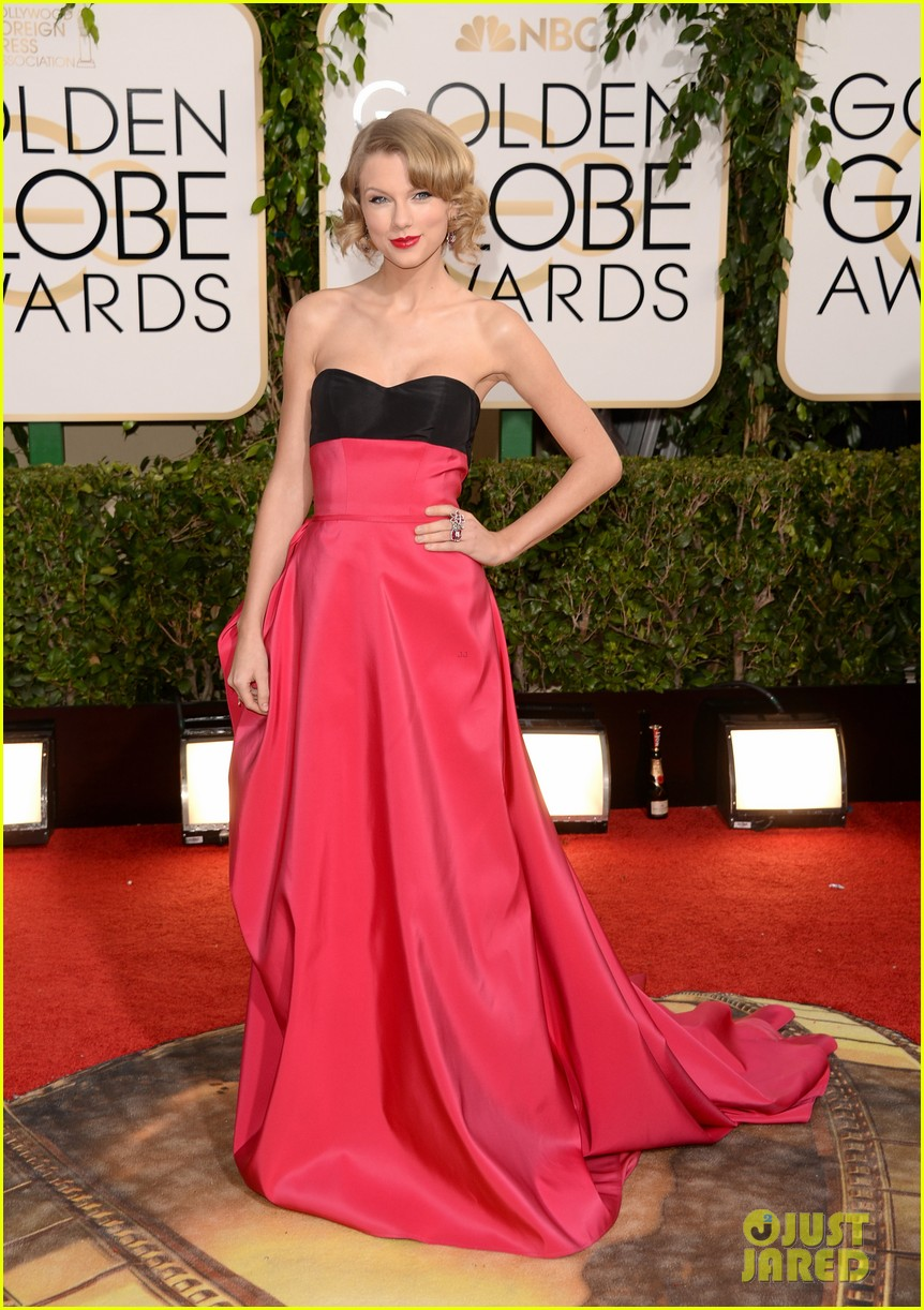 taylor swift golden globes 2014 red carpet 04