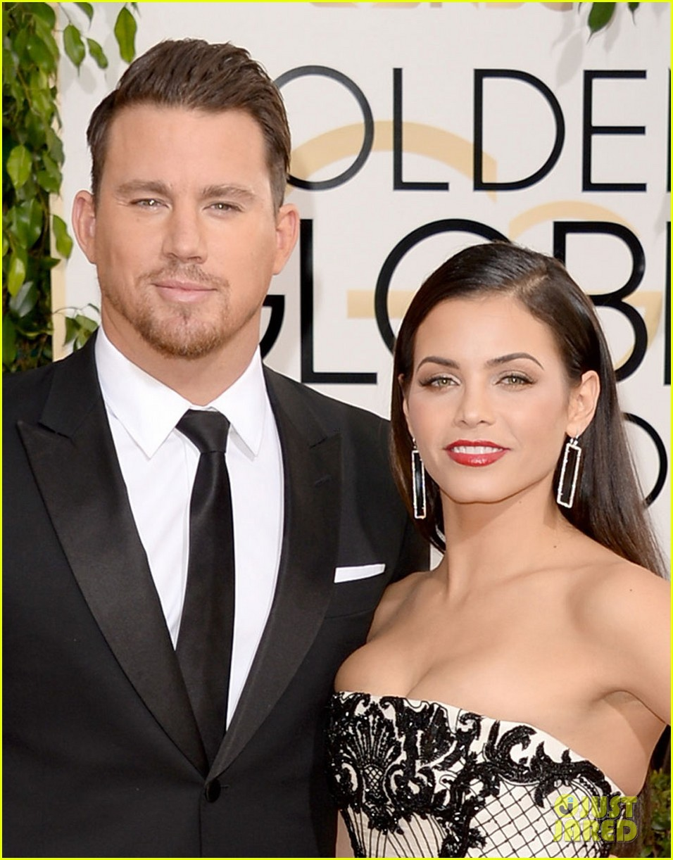 channing tatum jenna dewan golden globes 2014 red carpet 013029329
