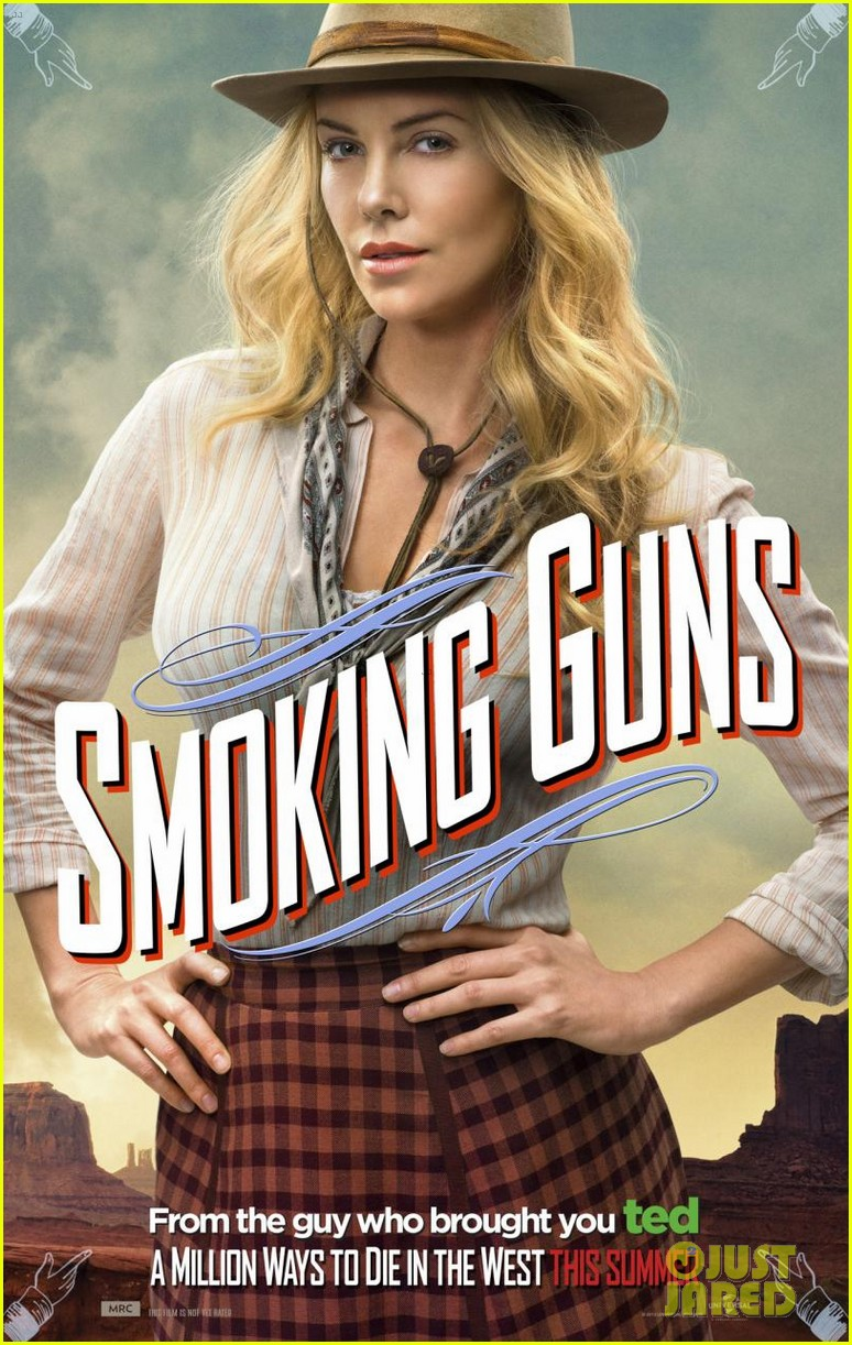 charlize theron is the smoking gun on million ways to die in the west character posters 01