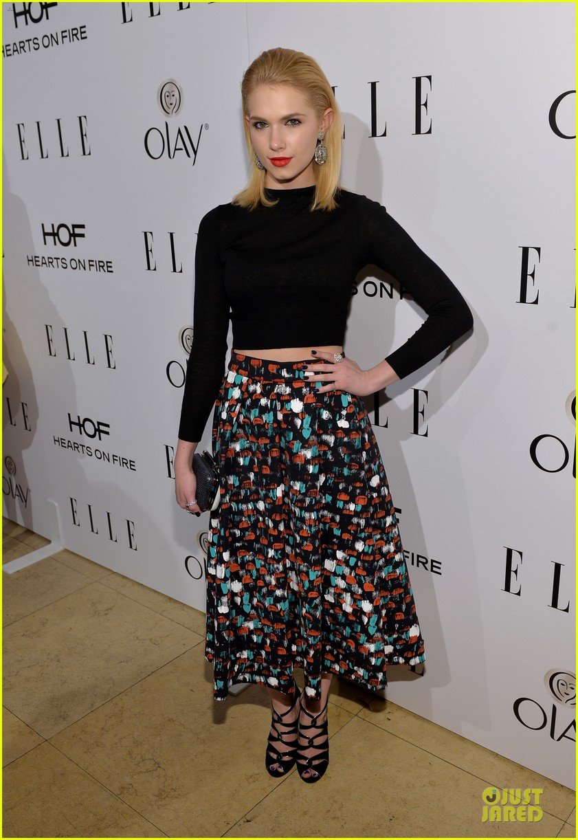 bella thorne kiernan shipka elle women in tv celebration 2014 05