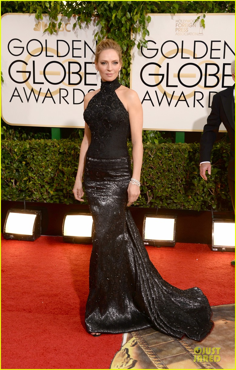 uma thurman chris evans golden globes 2014 presenters 07